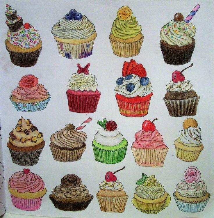 Zoe De Las Cases Secret New York Colouring Book, Cupcakes by Michelle