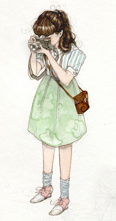 Matthew Land. This is a quick sketch of a girl about town, I changed her clothes, because I couldn't face drawing what she was actually wearing.