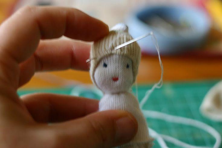 Pocket Doll Tutorial | through my eyes: Odd Sock Pocket Doll Tutorial