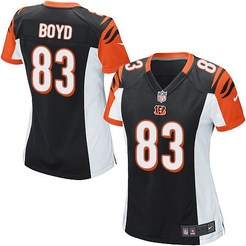 ... Womens Nike Cincinnati Bengals 83 Tyler Boyd Game Black Team Color NFL  Jersey ... f9052b49b