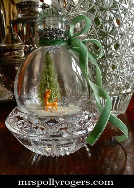 Christmas Decorating DIY Projects: Make your own keepsake holiday globe out of r