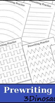 Free PreWriting Practice Printables