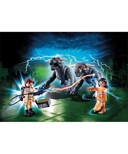 Ghostbuster™ Venkman uses his witty remarks to take on the Terror Dogs and save Dana Barrett with this proton-packed play set. CHOKING HAZARD: Small parts. Not for children under 3 years
