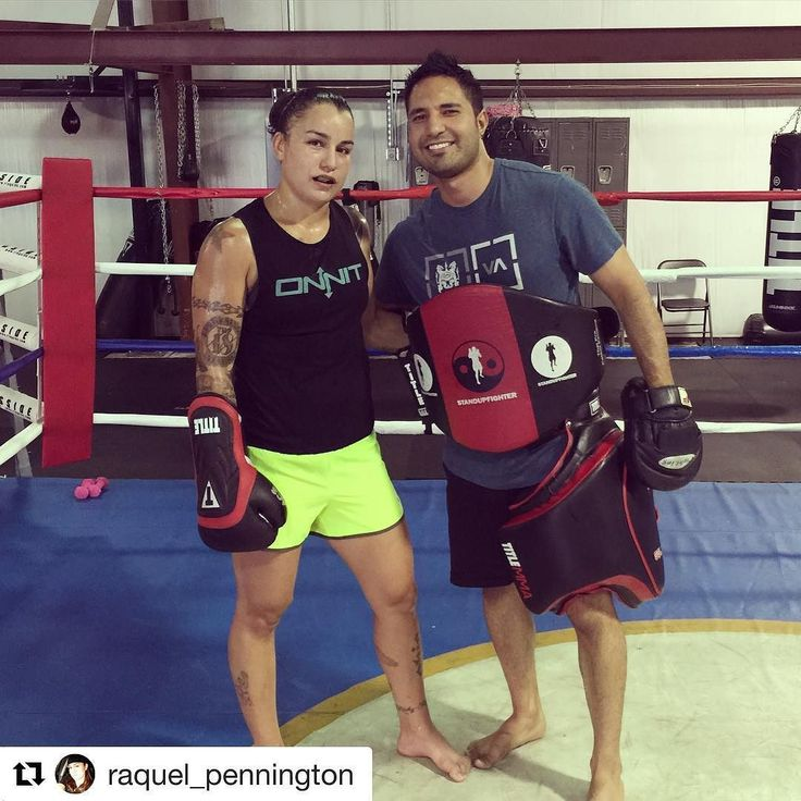 @raquel_pennington putting in solid work with her coach @juanjesusgonzalez90 and repping her @onnit tank!! Follow Rocky for more updates. #teamrocky #ufc #triplethreatgym #athlete #femaleathlete #mmatraining #wmma #hardwork #dedication #determination #grinding #mittwork