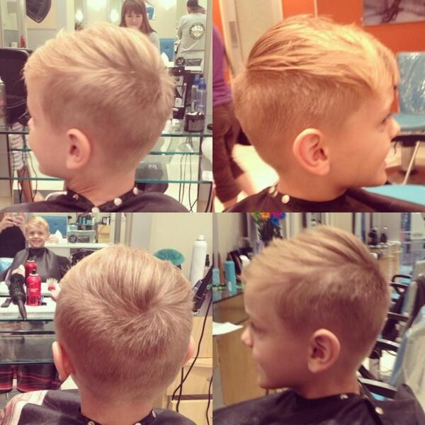 Boy's Haircuts...but will it lay flat!