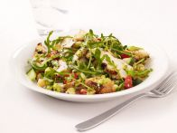 Pork Tenderloin Marinated in Garlic, Lemon and Oregano with Greek Salad Recipe : Bobby Flay : Food Network