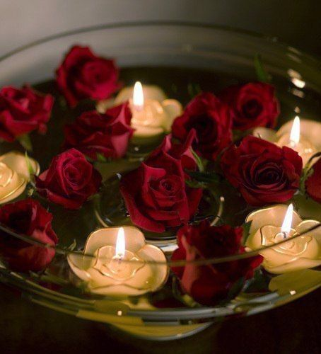 Floating Rose Centerpiece: 255 Best Images About Floating Candles... On Pinterest