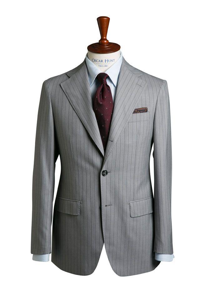 Light Grey Pinstripe Suit