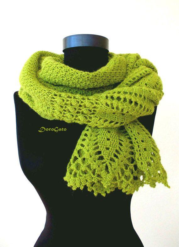 Mejores 106 imágenes de bufandas en Pinterest   Punto de crochet ...