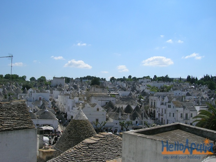 Alberobello is the unique place in the world where you can see this perspective! Visit HelloApulia so see more..