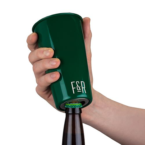 Bottle Opening Stainless Steel Pint Cup by Foster and Rye
