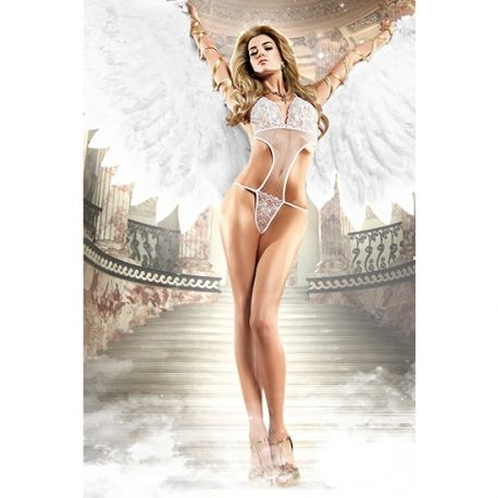 Body blanc sexy, collection white label seduction, BACI LINGERIE, 27 € chez MyLoveshop