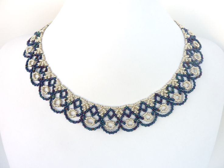 FREE beading pattern for Scalloped Lace Necklace ~ Seed Bead Tutorials