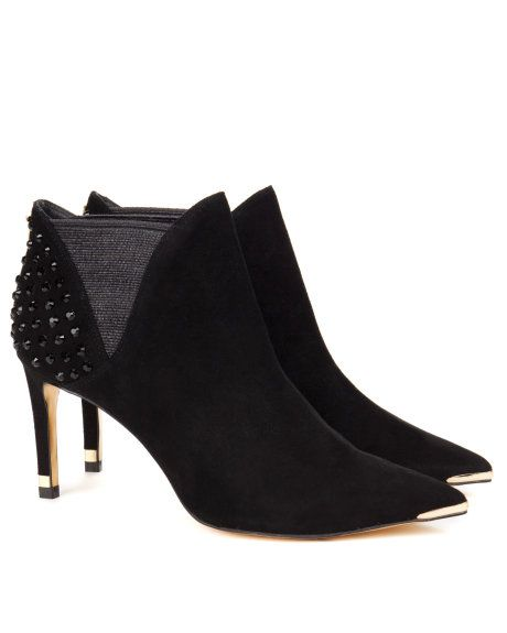 Studded heel boot - Black | Footwear | Ted Baker UK