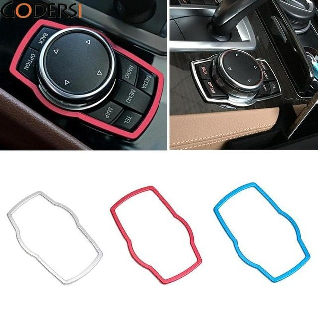 Godersi Car Accessories Interior Multimedia Buttons Cover Trim For