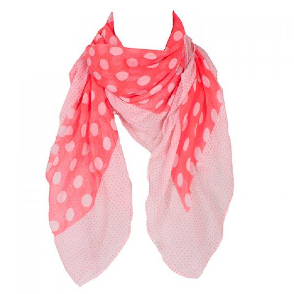 Chic Big and Small Polka Dot Pattern Voile Square Scarf For Women #shoes, #jewelry, #women, #men, #hats, #watches, #belts