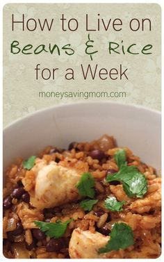 Going on a diet of beans and rice is a great way to cut your weekly food budget, but it can get SO boring very quickly! Here are some ways to break the monotony and add some spice to your meals..