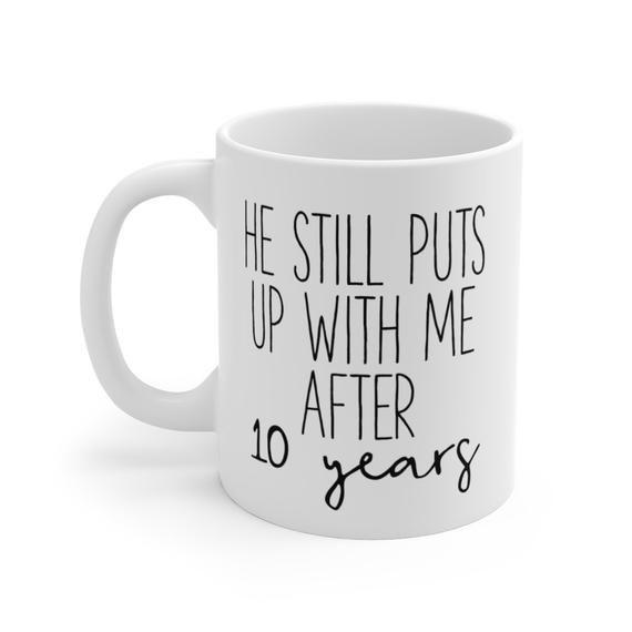 10th Anniversary Gift 10 Year Wedding Anniversary Coffee ...