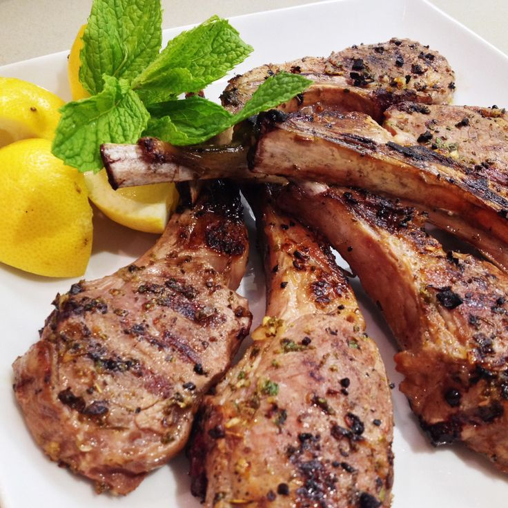 garlic and rosemary lamb chops with honey cider glaze recipes health
