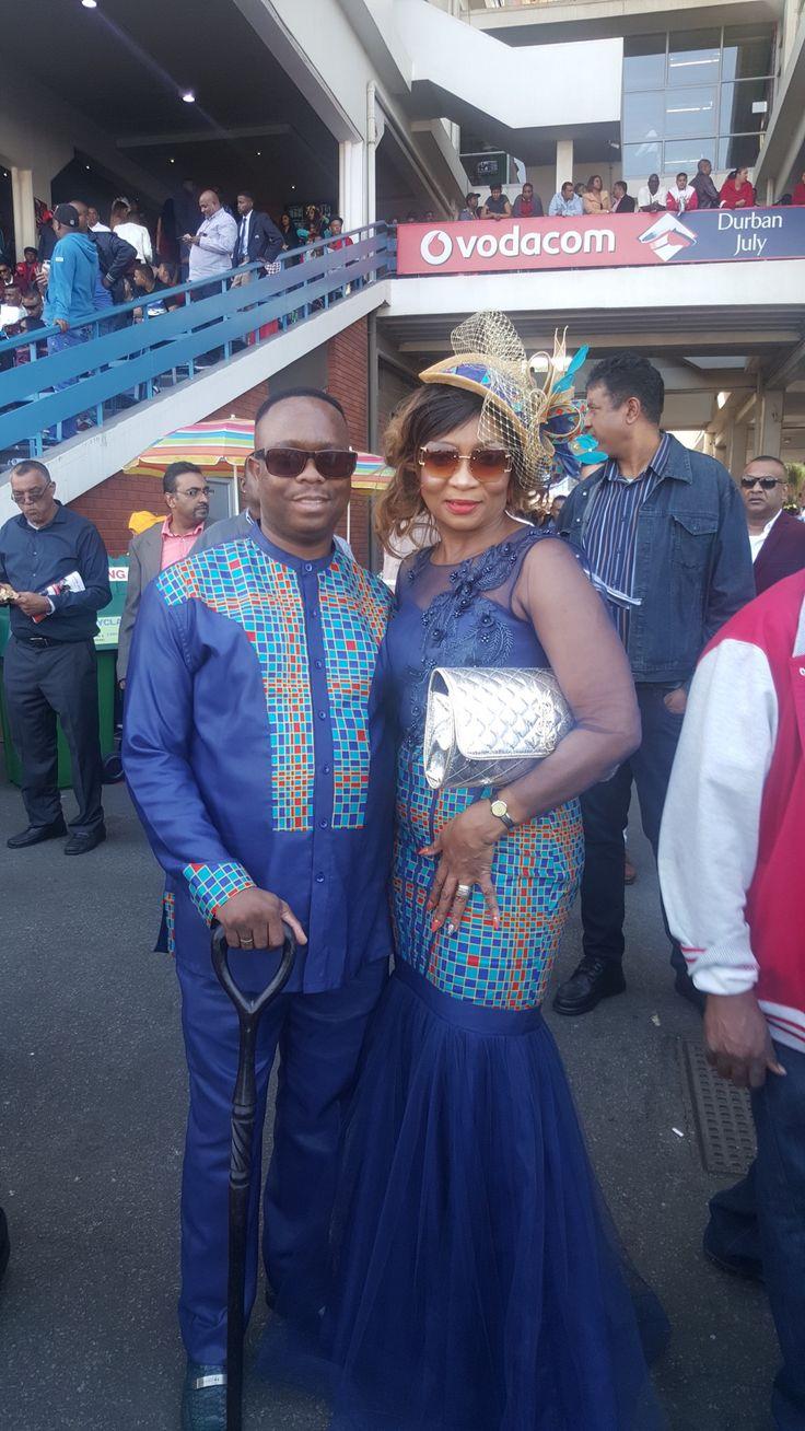 Muzi & Metu Mahlambi at the Vodacom Durban July 2017, Greyville  (South Africa) .