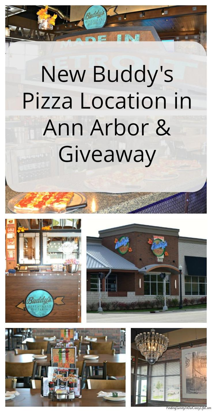 Check out the new Buddy's Pizza location in Ann Arbor, Michigan and enter to win a $25 Gift Card to enjoy your feast. #BuddysPizza #LovePizza Ends 11/5