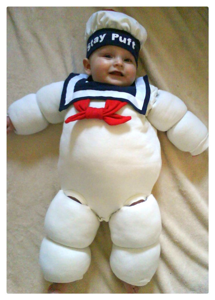 Stay Puft Marshmallow Man Ghostbusters baby  costume by whimwham