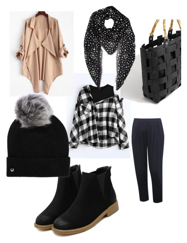 """Go black"" by wilma-bih on Polyvore featuring Violeta by Mango, M&Co, UGG and Yves Saint Laurent"