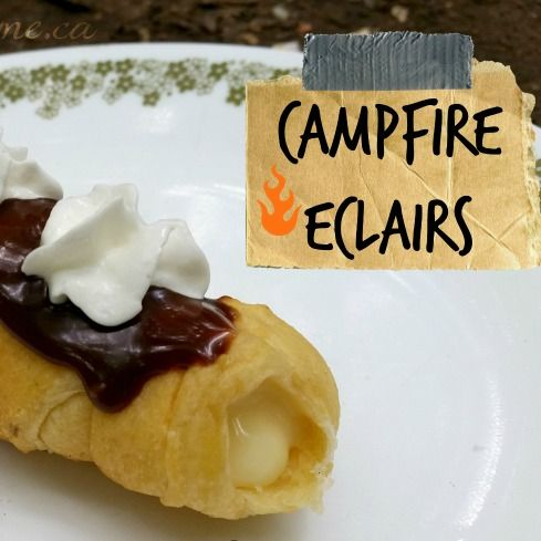 Campfire Eclairs from Refrigerator Crescent Rolls | You Pinspire Me