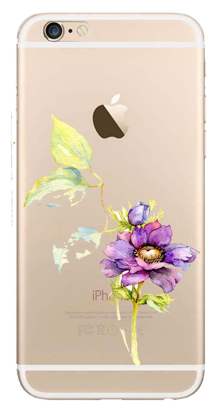 Whatskin DIY Style Color Drawing Flowers Series 02 Clear Back Cover for iphone 6