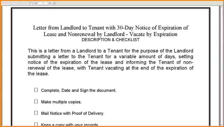 lease termination letter tenant agreement form landlord not renewing timesheet conversion