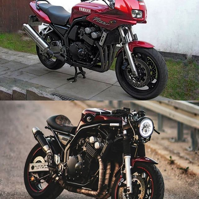 Before Vs After Yamaha Fzs 600 Rj02 By Apex 7 Follow Us Gentlebikers For The Motos Retro Fazer 600 Yamaha Voitures Et Motos