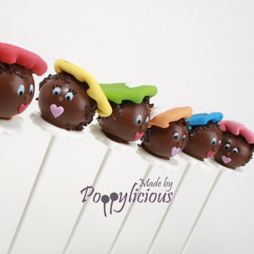 Zwarte Piet cake pops