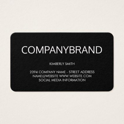 Large Font (Black) Business Card - minimalist office gifts personalize office cyo custom
