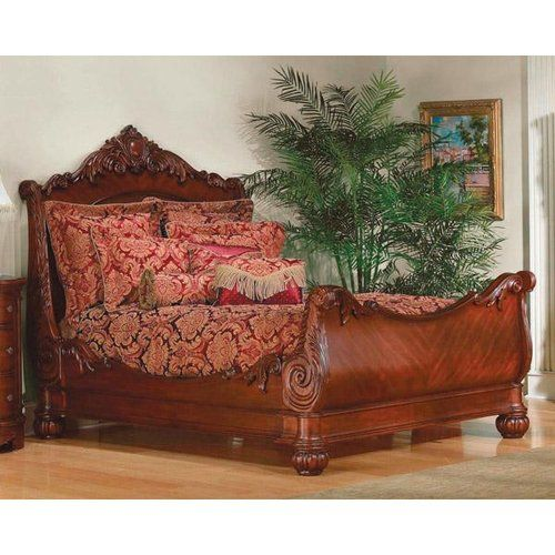This bed reminds me of the White Witch's sleigh from The Chronicles of Narnia.