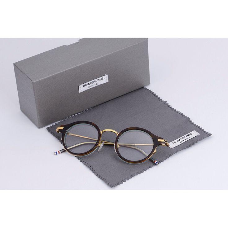2017 Бренди Том Браун Ретро круглая рамка рецепт очки кадры очки очки 45-23-145mm óculos де грау очки
