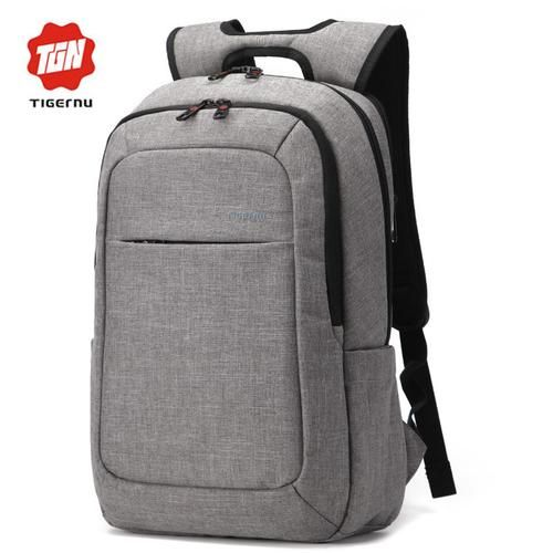 Smooth Operator    Slick looking denim backpack with laptop compartment and lots of other little gimmicks such as drink bottle side bag, phone and ipad pockets.     Choose between the interior and separate laptop compartment.