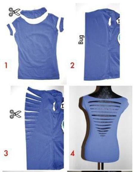 DIY T Shirt Cutting Back – Day 46 http://interestingfor.me/diy-t-shirt-cutting-back/