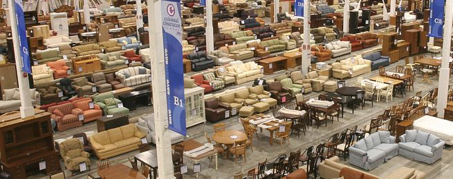 Colossal clearance center at jordan 39 s furniture in avon - Cheap living room furniture packages ...