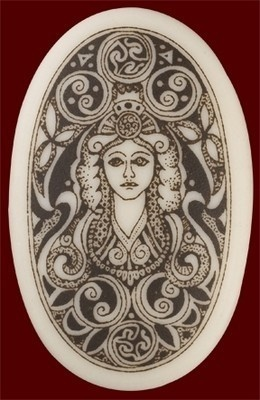 Porcelain Celtic Pendant - Oval Brigantia NEW | eBay