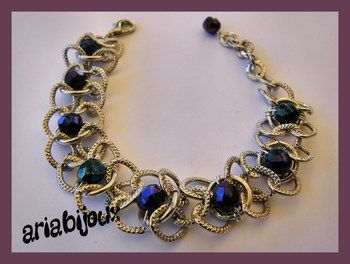 bracciale blu in chainmail