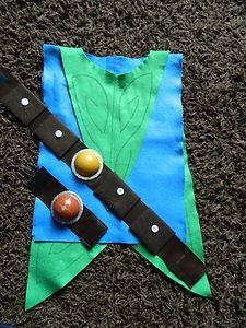 Tree Fu Tom inspired Fancy Dress Costume with belt and wrist band | looks easy to may for my Tree Fu Tom fanatic!