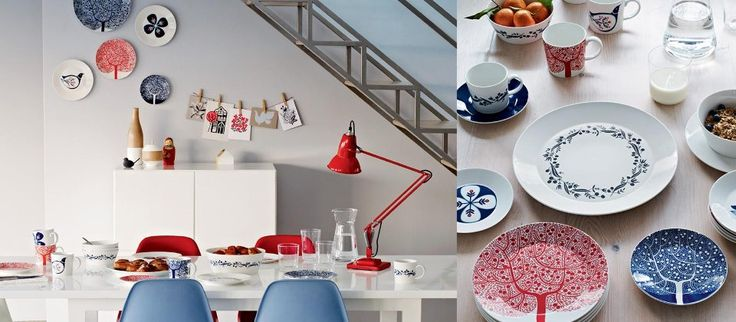 Colorful pieces of Scandinavian-style dinnerware are paired with chairs, tables, place settings, and more that turn little pops of color into a full-blown fizz. The graceful curves and perfectly straight lines of Mid-Century Modern furniture pieces make a great stage for artful accent pieces.