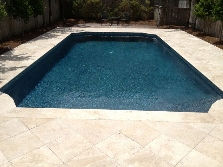 Travertine Paver New Orleans Swimming Pool Deck