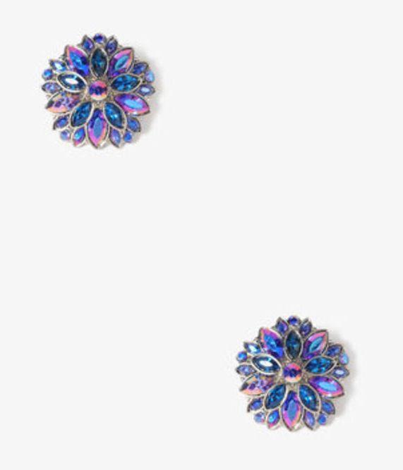 Blue ball earrings