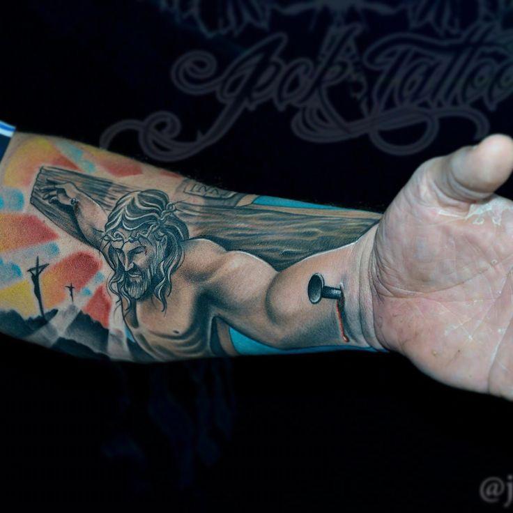 Jesus Cross Tattoo Designs For Men