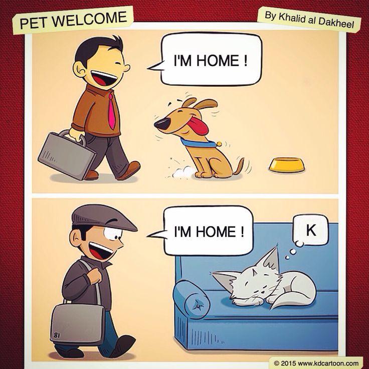 Pet Welcome by Khalid al Dakheel - 2015 #artwork #sketch #drawing #illustration #cartoon #comic