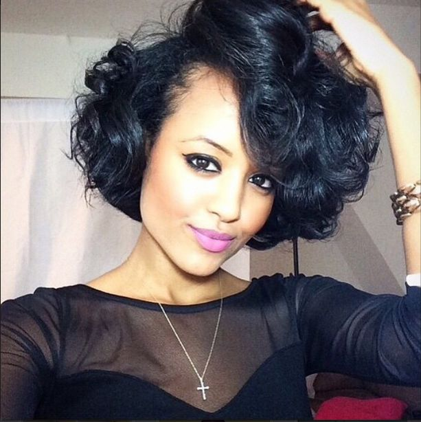 Beautiful Curly Bob http://www.shorthaircutsforblackwomen.com/top-50-best-selling-natural-hair-products-updated-regularly/