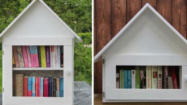 een eigen mini bieb voor mijn huis... voorbijgangers kunnen er een boek 'ruilen'... :-)