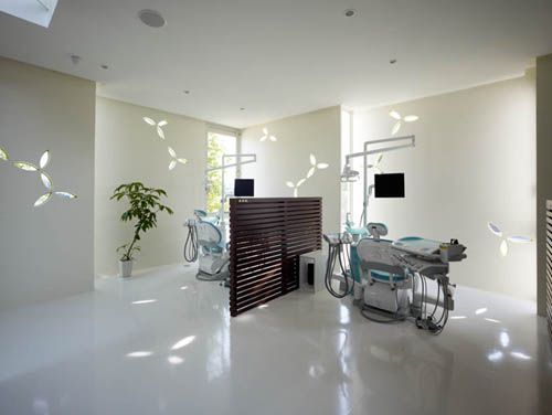 Best of interior design and architecture shimokawa for Dental clinic interior designs