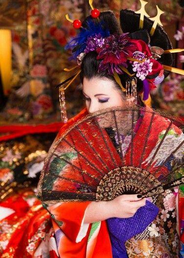Oiran shoot in japan Model Jocelyn Lothian #oiran #oirankatsura #fan #japan